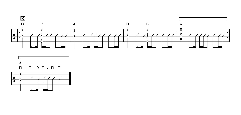 インフィニティ/優里 ギタータブ譜 コードストロークで弾くVer.04