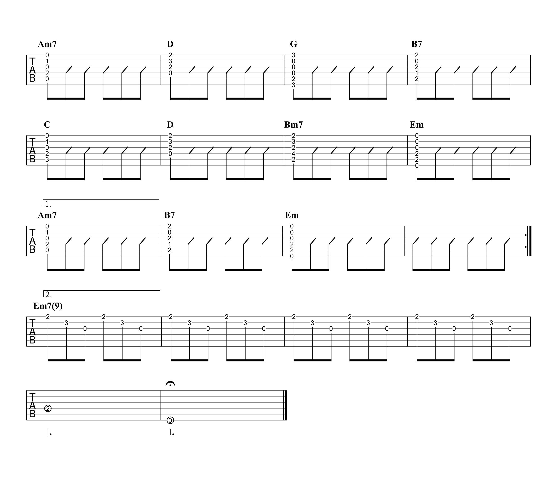 MOTEL/B'z ギタータブ譜 アコギイントロ完コピ&コードストロークで弾くVer.04
