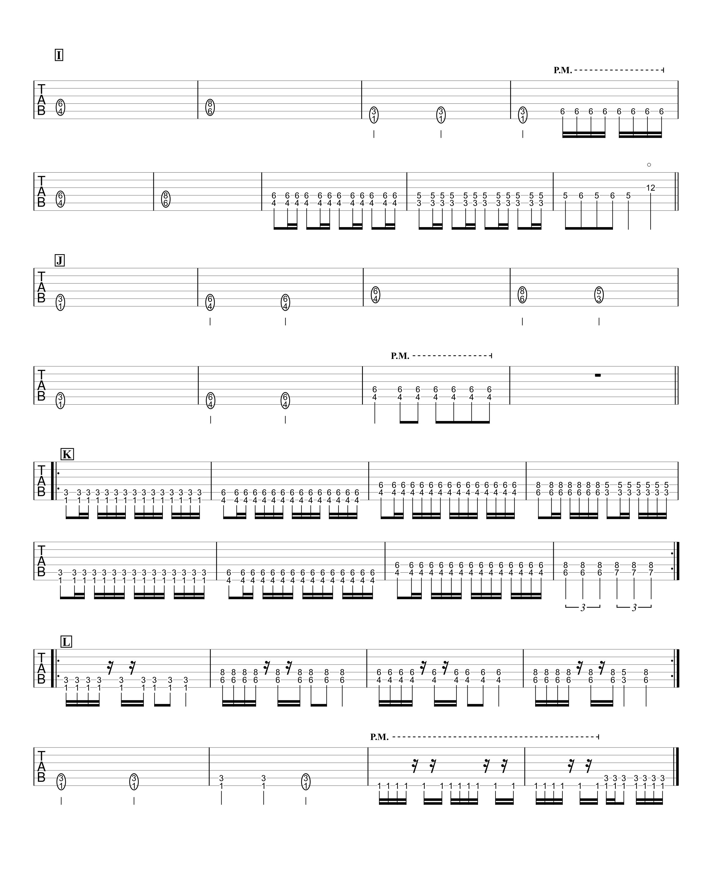 メギツネ/BABY METAL ギターTAB譜 パワーコードだけで弾く簡単アレンジVer.03