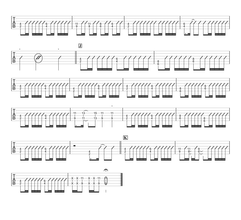 ともに/WANIMA ギタータブ譜 ほぼパワーコードだけで弾く簡単アレンジVer.03