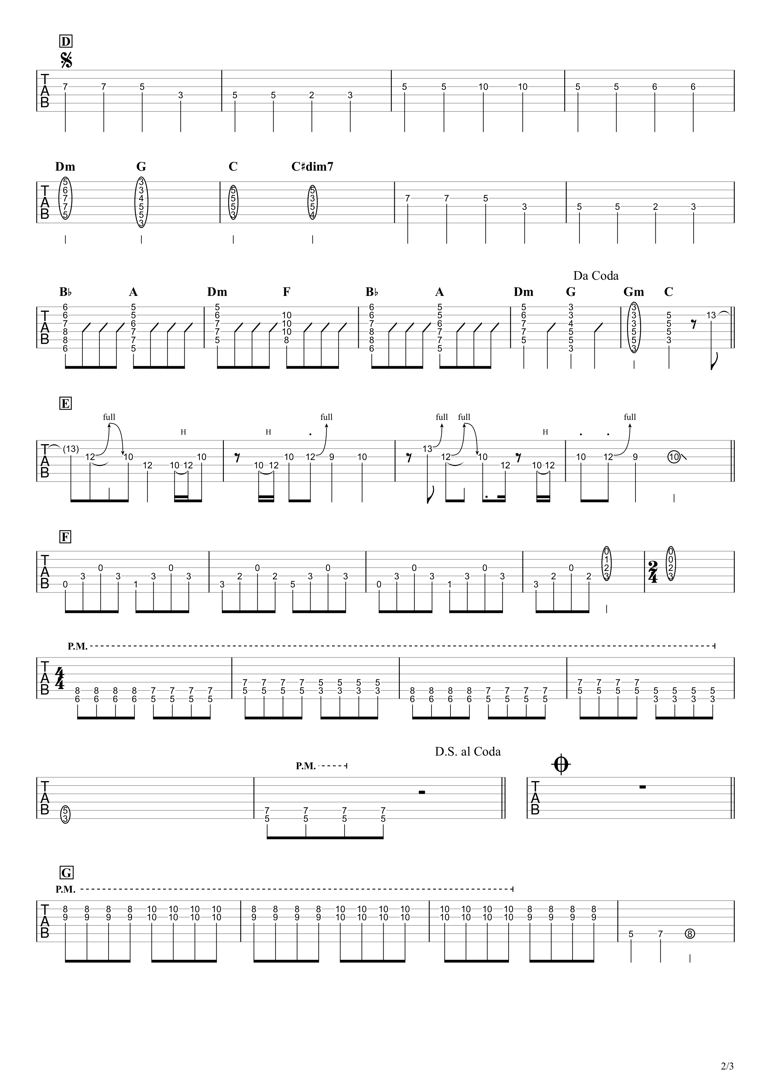 ブルーベリー・ナイツ/マカロニえんぴつ 無料ギタータブ譜|EGパートざっくり完コピVer.02