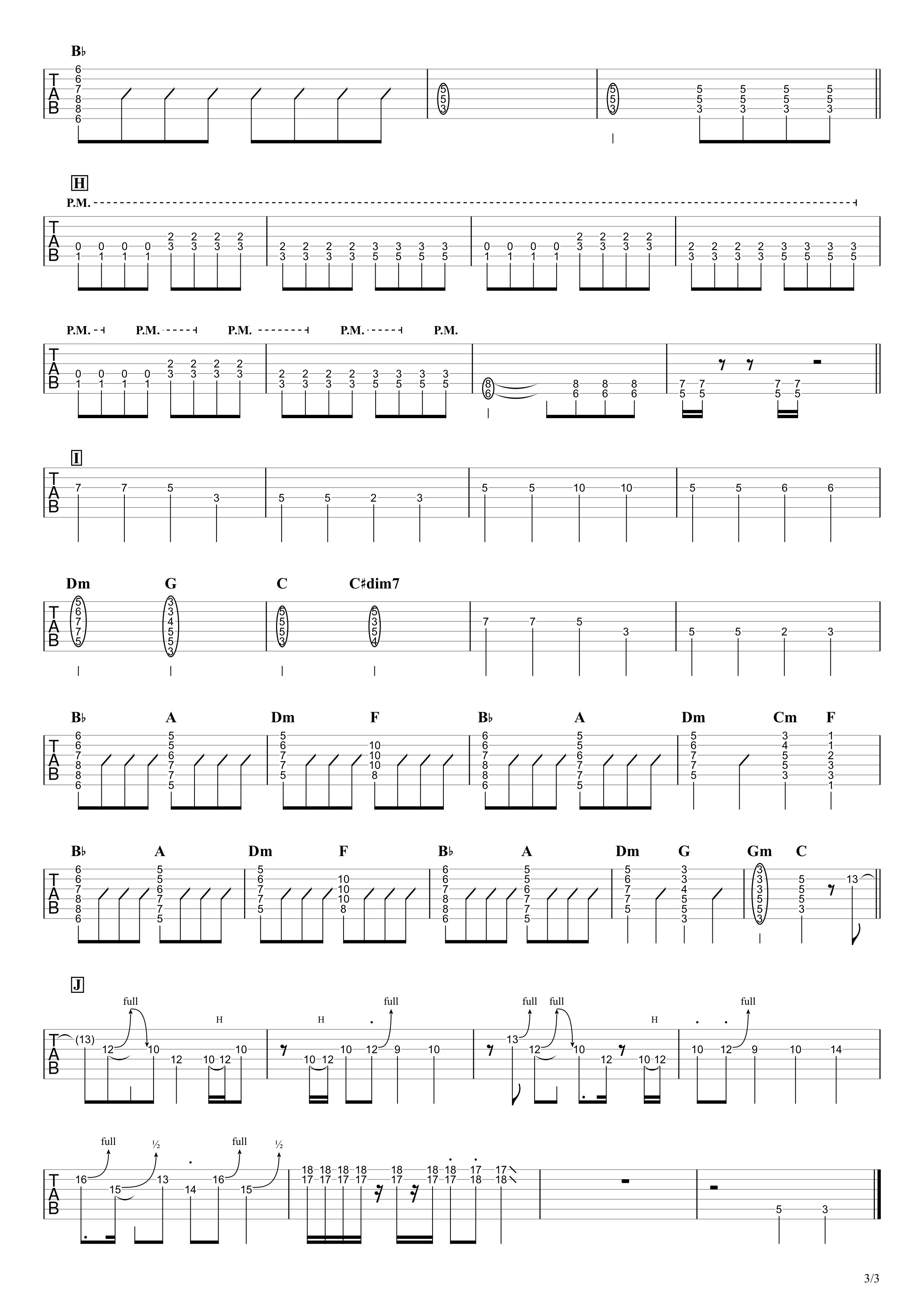 ブルーベリー・ナイツ/マカロニえんぴつ 無料ギタータブ譜|EGパートざっくり完コピVer.03