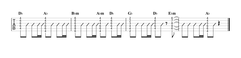 もう少しだけ/YOASOBI ギタータブ譜 弾き語りOK!コードストロークで弾くVer.04